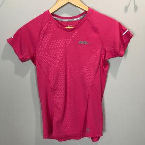 Women's Sz XS Nike Run Dri-Fit V neck T Shirt